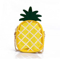 Liten Transparent Jelly Package Crossbody Väska Färsk Ananas Shape Chain Handy Messenger Shoulder Bag För Kvinna Handväskor
