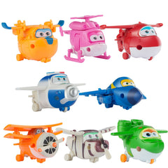Super Wings Planes Toy Deformation Flygplan Robots Donnie Dizzy Mira Jett Paul Grand Albert ABS Action Figurer 8st / set