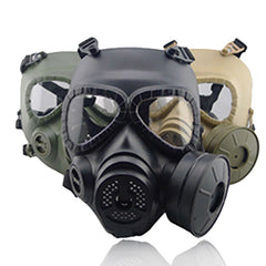 Tactical Head Masks Resin Full Face Tågventilator för CS Wargame Airsoft Paintball Dummy Gasmaske med ventilator för Cosplay skydd