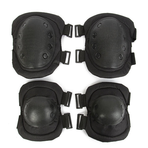 Skydd Tactical Elbow & Knee Pads Set Sport Safety Pads Outdoor skyddsutrustning CS Military Paintball Sporting Unisex CCGK