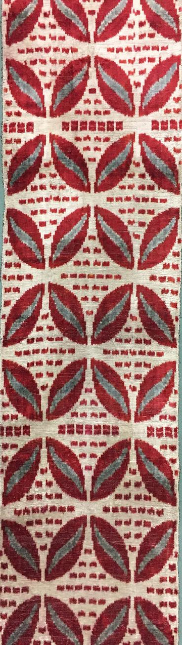 CLARET RED - IKAT SILK/VELVET FABRIC