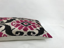 Load image into Gallery viewer, HIPPIE PINK TRIBAL - IKAT SILK/VELVET PILLOW