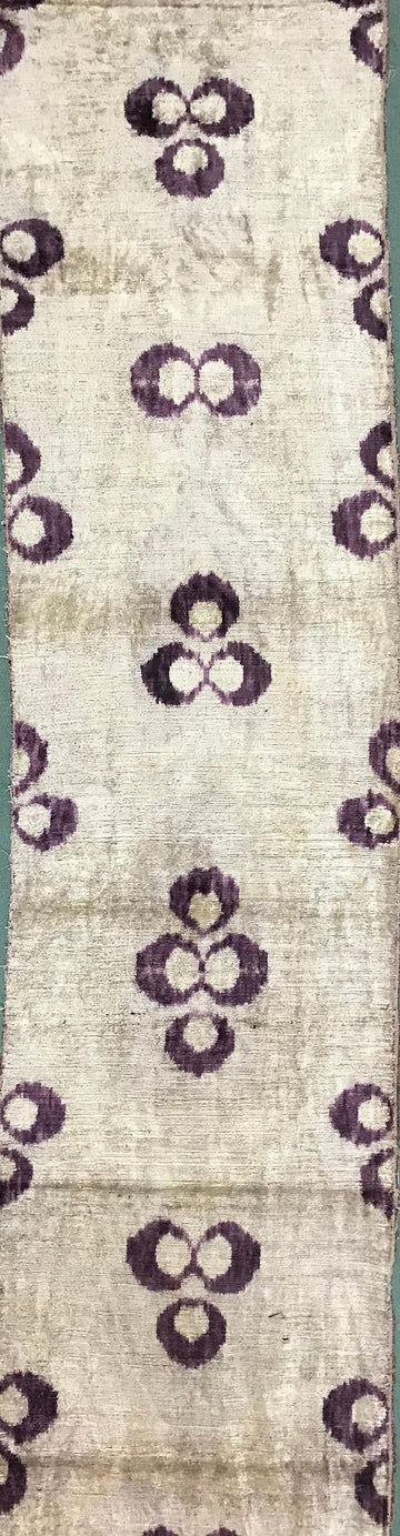 MOON MIST - IKAT SILK/VELVET FABRIC