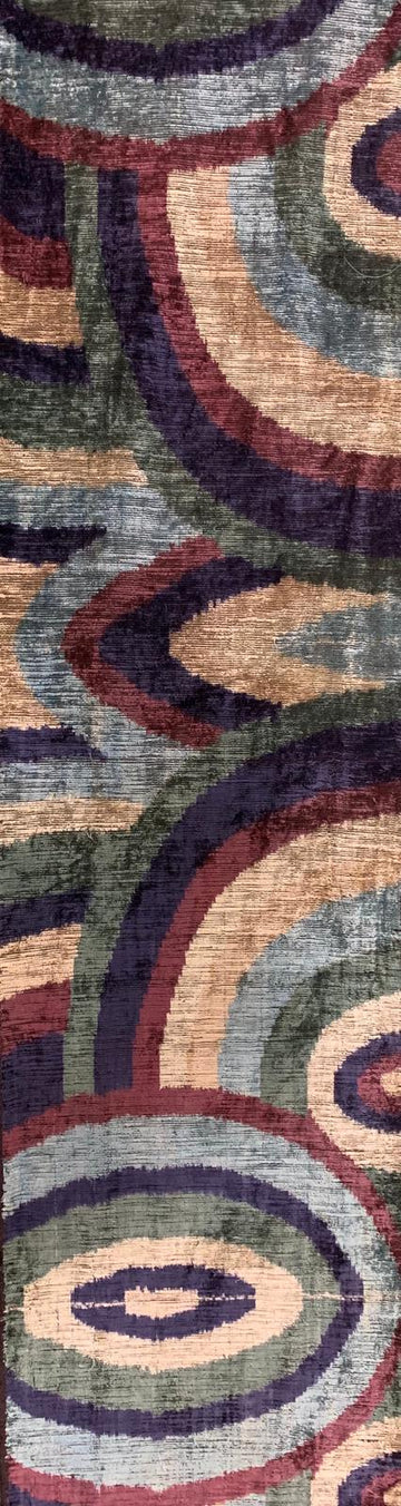 SHIP COVE- IKAT SILK/VELVET  FABRIC