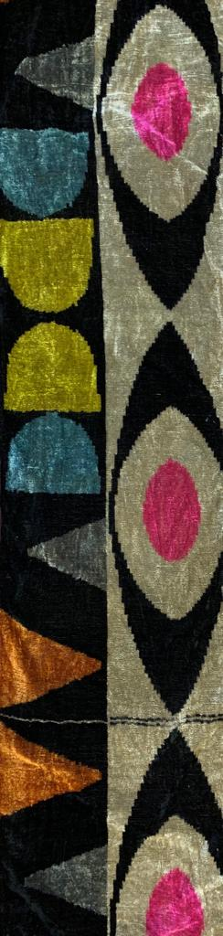 EGYPTIAN EYES- IKAT SILK/VELVET FABRIC