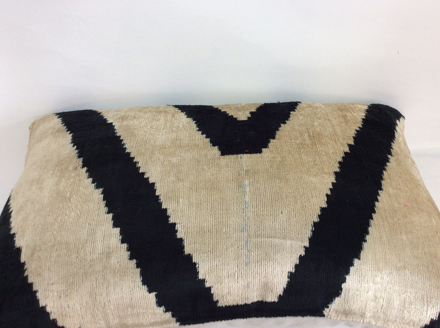 V FOR TUNDER BLACK  - IKAT SILK/VELVET PILLOW