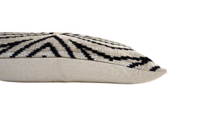 VISTA WHITE - IKAT SILK/VELVET PILLOW