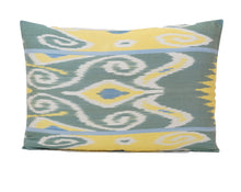 Load image into Gallery viewer, Asparagus Green- IKAT SILK PILLOW