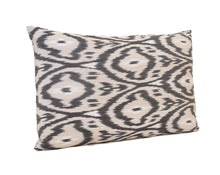 Load image into Gallery viewer, Indian Khaki - IKAT SILK PILLOW