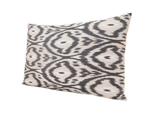 Indian Khaki - IKAT SILK PILLOW