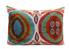 Load image into Gallery viewer, DANUBE VALENICA- IKAT SILK/VELVET PILLOW