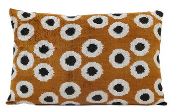 DALLAS BROWN- IKAT SILK/VELVET PILLOW