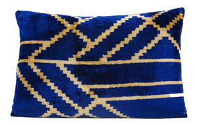 BAY OF MANY- IKAT SILK/VELVET PILLOW