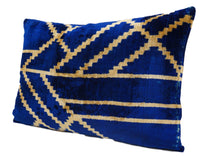 Load image into Gallery viewer, BAY OF MANY- IKAT SILK/VELVET PILLOW
