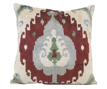 SPICY MIX- IKAT SILK/VELVET PILLOW