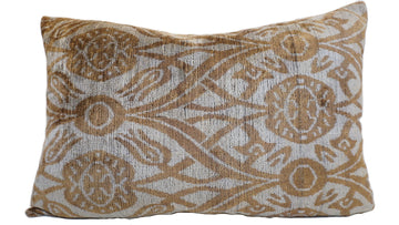 DI SERRIA BROWN DESIGN- IKAT SILK/VELVET PILLOW