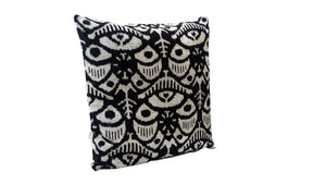 WOODSMOKE - IKAT SILK/VELVET PILLOW