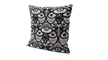 Load image into Gallery viewer, WOODSMOKE - IKAT SILK/VELVET PILLOW