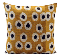 Load image into Gallery viewer, MARIGOLD- IKAT SILK/VELVET PILLOW