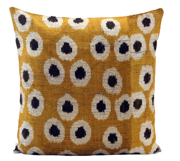 MARIGOLD- IKAT SILK/VELVET PILLOW