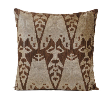 COPPER CANYON- IKAT SILK/VELVET PILLOW