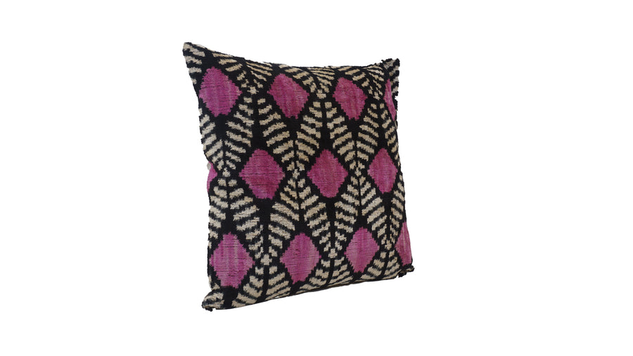 Honey Flower - IKAT SILK/VELVET PILLOW
