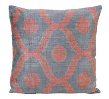 Load image into Gallery viewer, Light Wisteria - IKAT SILK/VELVET PILLOW