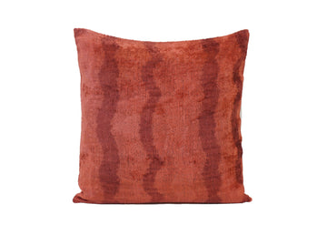 Hot Cinnamon - IKAT SILK/VELVET PILLOW