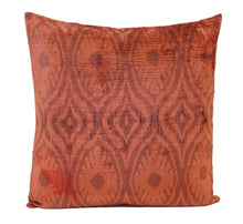 Load image into Gallery viewer, Tia Maria - IKAT SILK/VELVET PILLOW