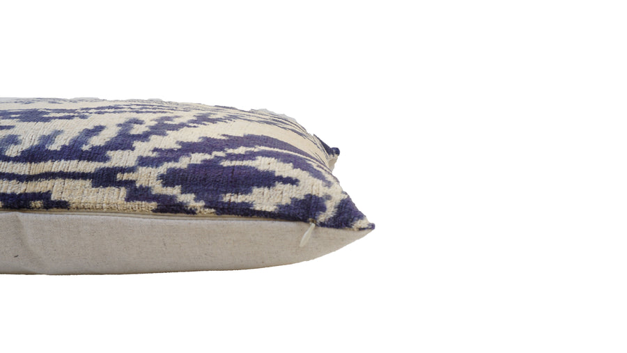 Wedgewood - IKAT SILK/VELVET PILLOW