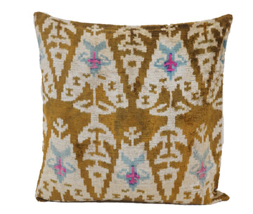 Cape Palliser - IKAT SILK/VELVET PILLOW