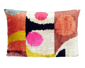 AMARANTH- IKAT SILK/VELVET PILLOW