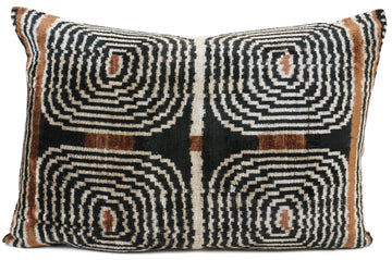 AFRICAN DESIGN- IKAT SILK/VELVET PILLOW