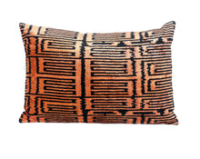 Load image into Gallery viewer, HOT  CINNAMON- IKAT SILK/VELVET PILLOW