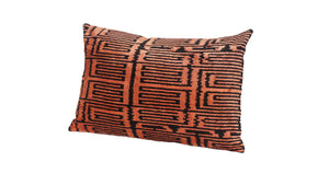 HOT  CINNAMON- IKAT SILK/VELVET PILLOW