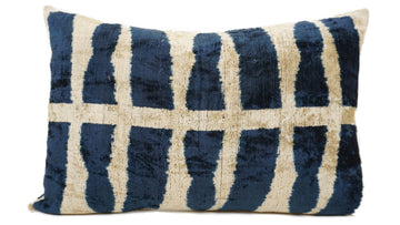 HOT VANILLA - IKAT SILK/VELVET PILLOW