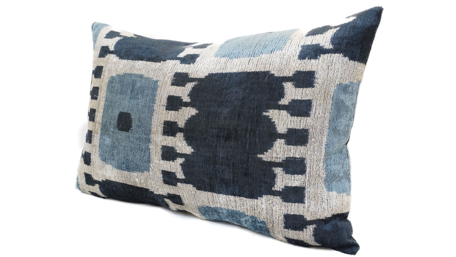 BUTTERFLY BUSH- IKAT SILK/VELVET PILLOW