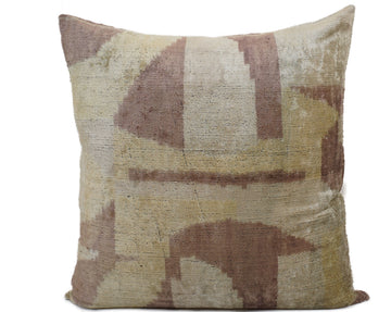 MONGOSSE - IKAT SILK/VELVET PILLOW