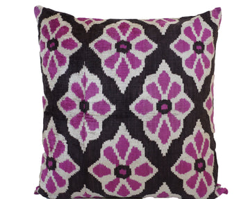 VOODOO- IKAT SILK/VELVET PILLOW