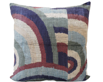 SHIP COVE- IKAT SILK/VELVET PILLOW