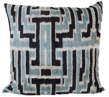 HANDMADE IKAT SILK/VELVET PILLOW