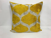 Load image into Gallery viewer, GOLD CLASSIC - IKAT SILK/VELVET PILLOW