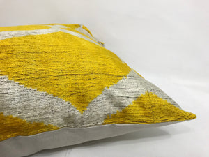 GOLD CLASSIC - IKAT SILK/VELVET PILLOW