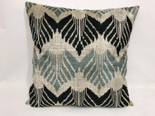 Load image into Gallery viewer, EDWARD LEAFS - IKAT SILK/VELVET PILLOW