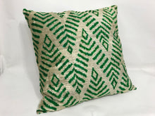 Load image into Gallery viewer, MAYAN CHEVRON - IKAT SILK/VELVET PILLOW