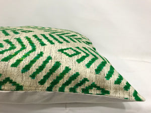 MAYAN CHEVRON - IKAT SILK/VELVET PILLOW