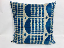Load image into Gallery viewer, DOWNRIVER TEMPLE - IKAT SILK/VELVET PILLOW