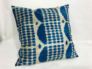 DOWNRIVER TEMPLE - IKAT SILK/VELVET PILLOW