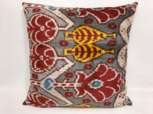 Load image into Gallery viewer, TREE OF LIFE - IKAT SILK/VELVET PILLOW