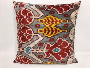 TREE OF LIFE - IKAT SILK/VELVET PILLOW